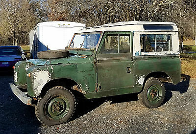 1958 Land Rover Other Safari Roof 1958 Land Rover II Import from England Right Hand Drive