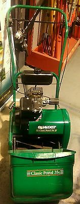 Qualcast Classic Petrol 35S Push Reel cylinder lawnmower