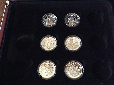 The History Of The Royal Navy Six Silver £5 Proof Coins In Box