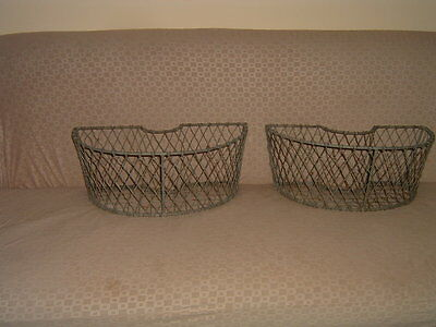 Antique Pair French Iron Wire Huge Planters Super