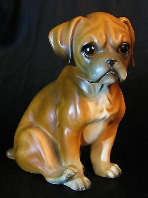 Realistic Boxer Puppy Porcelain Figurine Crown Royal 3867 Hand Painted Japan