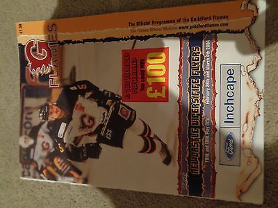 Guildford Flames match night programme from the 03-04 Season