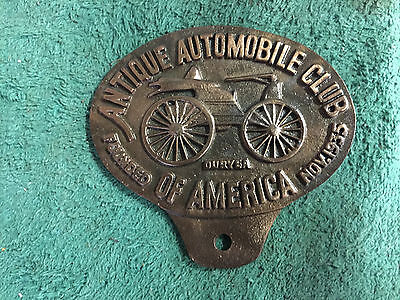 Antique Automobile Club Of America License Plate Topper Vintage