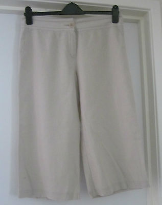 Marks and Spencer size 14 beige crop trousers