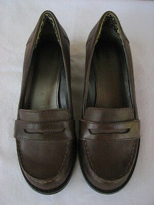 Women's Brown Leather Penny Loafers Sz 7