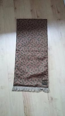 Vintage DUGGIE Imperial Golden Brown & Green Paisley Scooter Scarf - Mod