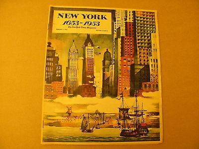 NEW YORK 1653-1953 the New York Times Magazine February 1, 1953 Section 6