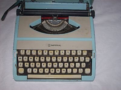 Imperial Portable Typewriter With Carry Case,in Good Condition, But Need Service