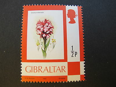 GIBRALTAR 1982:Orchidee orchid Blume flowers flora (Michel 348 IV 1982)