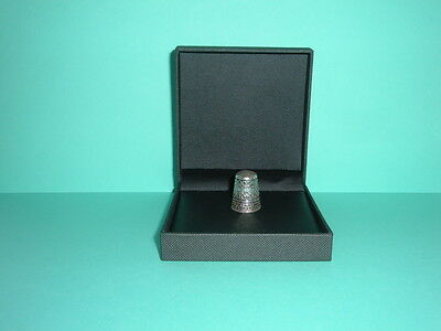 Vintage Sterling Silver Thimble With Greek Key Design - Good Used Condition