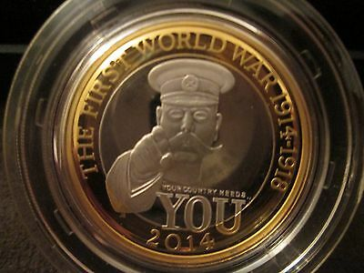 RARE 2014 RM 100 Anni of First World War Outbreak PIEDFORT Silver Proof £2 Coin