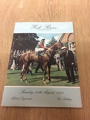 """""""mill Reef"""" 1970 York Gimcrack Stakes Race Card Horse Racing"""