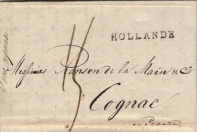 Lettre Netherlands Rotterdam Hollande 1807 Cover Brief