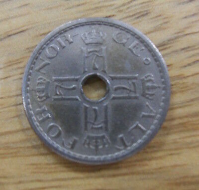 Old Norway 50 Ore coin 1941 Norge fifty Ore. used