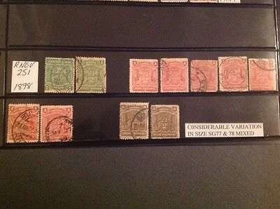 Rhodesia/Bsa Co. 1898 Size Variation X 11 Stamps Used