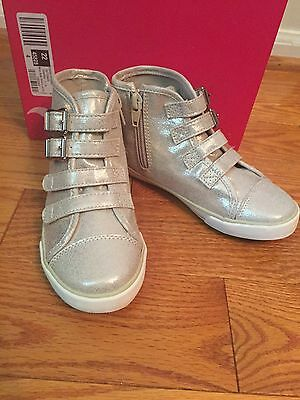 New Girls Gold High Top Sneakers Shoes Size 11