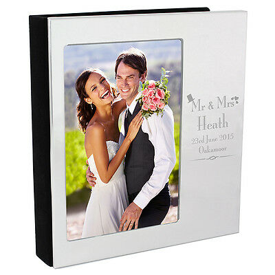 Personalised Mr and & Mrs Wedding Traditional Beautiful Photo Frame Album 6x4