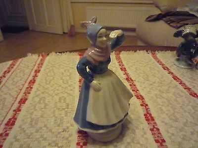 Lovely Vintage Wagner and Apel German Figurine of a Lady in Hedebo style