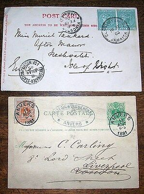 1903 Jamaica To Isle Of Wight Q Vic Stamp + 1881  France  Postal Strike -Rare