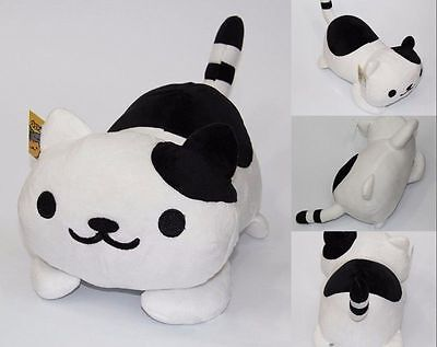 "New Black 14"" Game Neko Atsume Soft Plush Toys Kitty Cat Stuffed Doll Xmas Gift"