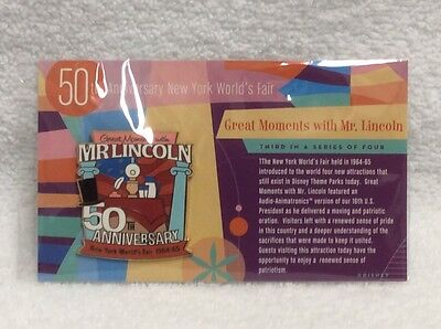 Disney Great Moments With Mr. Lincoln 50th Anniversary Cast Exclusive LE 500 Pin