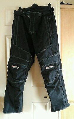 SPADA TEXTILE MOTORBIKE TROUSERS size XL with knee protectors