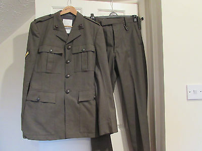 A Royal Marines uniform - tunic jacket and trousers