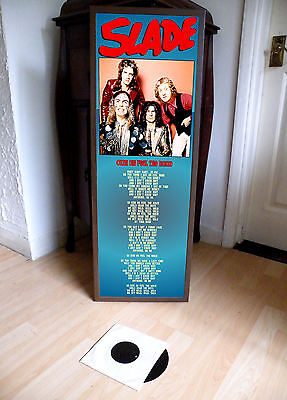 Slade Cum On Feel Noize Promotional Poster Lyric Sheet,pop Rock,70's,glam,trex