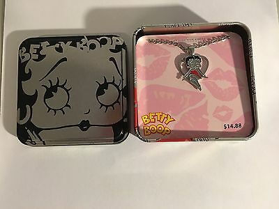 BETTY BOOP STAINLESS STEEL NECKLACE with MATCHING TIN