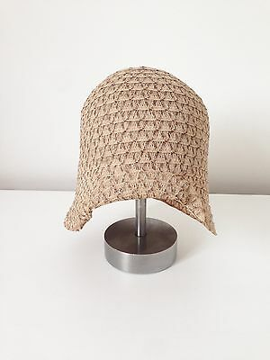 ORIGINAL RARE VINTAGE 1920's YOUNG GIRL'S STRAW / WOVEN CREAM HAT