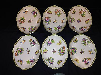Herend Queen Victoria Rare Oval Tray/Salad Plate Set ( 1pc.)