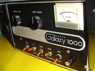 "Galaxy 1000  ""hf"" Tube Amplifier  / Upgraded Caps & Hi Pwr Tubes/ 2016 Updates"
