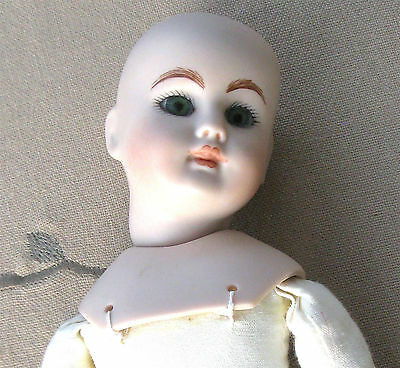 Bisque doll, reproduction, used