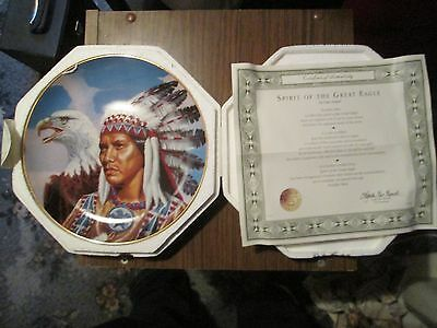 Franklin Mint Plate - Spirit of the Great Eagle - Gary Ampel