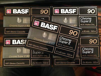 MC*5x Basf Chrome Super II 90*  TAPE BLANK   OVP/FACTORY SEALED