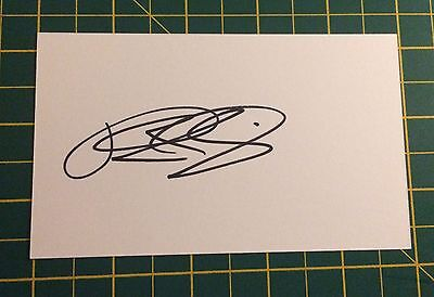 Hand Signed 2016/17 Tyias Browning Everton Index Card & COA
