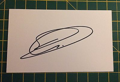 Hand Signed 2016/17 Joel Robles Everton Index Card & COA