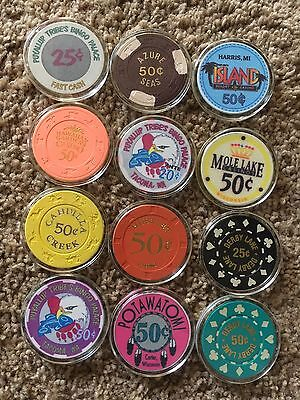 $5.00 casino chip collection # 5 Fractionals