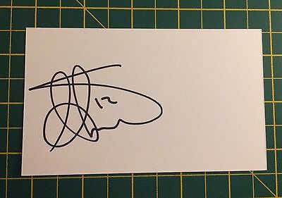 Hand Signed 2016/17 Aaron Lennon Everton Index Card & COA