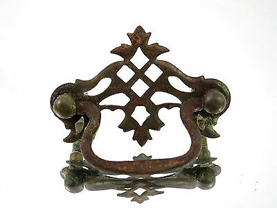 (1) Vintage Metal Dresser Drawer Hutch Cabinet Handle Pull Hardware Ornate knob