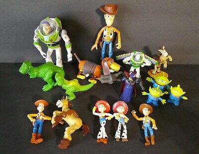 Lot Disney Pixar PVC Toy Story 2 Collectible Figures Cake Toppers Toys Jointed