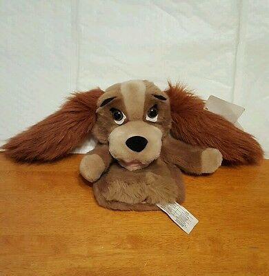 """Disney LADY AND THE TRAMP Lady 10"""" Glove Puppet"""