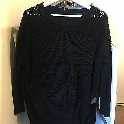 COUNTRY ROAD Black Sweater Top Cotton EUC S 10