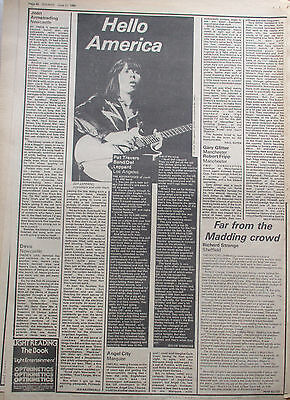Joan Armatrading.Devo.Pat Travers Band.Def Leppard.Sounds Clippings 1980