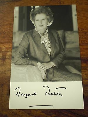 Margaret thatcher 6x4 hand signed photo