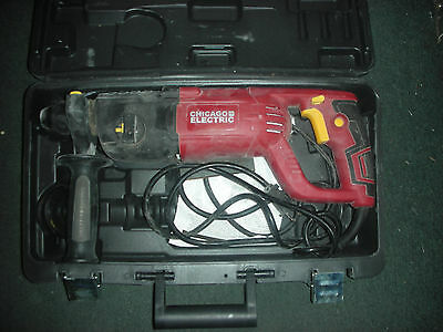 """Chicago Electric 69276 Corded 1"""" SDS Rotary Hammer Drill 7.3 Amp Hammerdrill"""