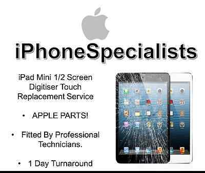 Apple iPad Mini 1/2 CRACKED, SMASHED GLASS SCREEN,GLASS FIX REPLACEMENT SERVICE!