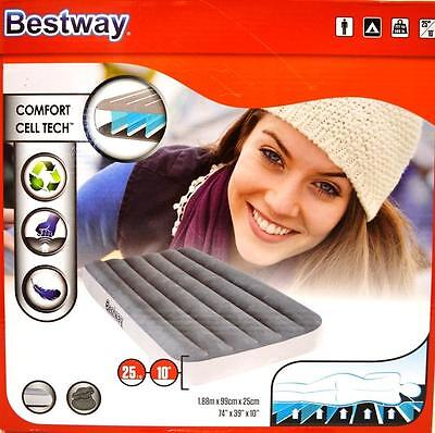 New Bestway Inflatable Comfort Cell Tech Mattress Air Bed 188*99*25cm (#67539)