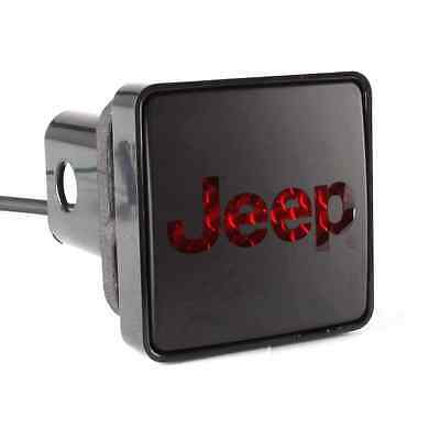 Bully (CR-007J) Black Square Hitch Cover with Jeep Logo