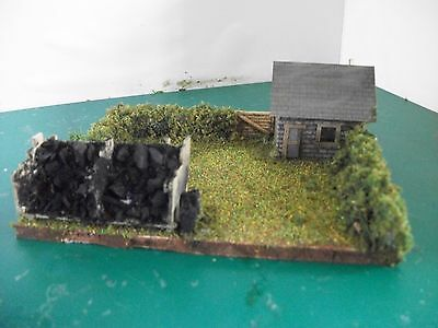 Lineside Coal Hut & Staithe Diorama OO Gauge with gated hedge.